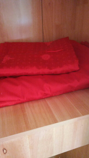宫品结婚庆四件套多件套大红全棉刺绣新婚床品套件结婚六八十件套纯棉绣花床上用品 龙章凤姿 四件套2.0m(6.6英尺)床 晒单图