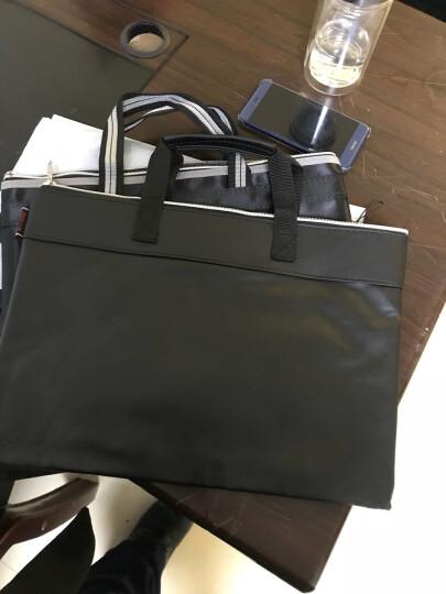 信发 TRNFA TB-300-4 A4双层皮革资料袋文件袋公文包 手提袋 拉链资料加厚拉边袋 宣传培训收纳袋 会议包 晒单图