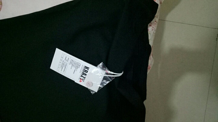 Krazy  绑带元素格纹胸衣拼接设计收腰小黑裙显瘦连衣裙 黑色 M 晒单图