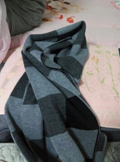上海故事羊羔绒围巾男士冬季保暖加厚商务英伦格子羊毛围巾 咖啡格 晒单图