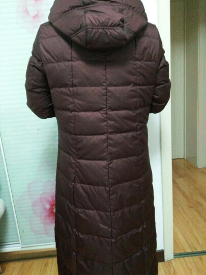 恒源祥女士中长款羽绒服冬装新款修身加厚保暖外套过膝长款女8801 大红5# 175/96A(XXL) 晒单图
