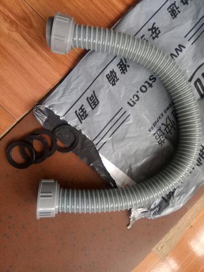 爱帮乐(AIBANGLE) 洗菜盆下水管厨房双槽B连接管垃圾处理器双接头下水排水管 0.6米双接口+4个垫片 晒单图