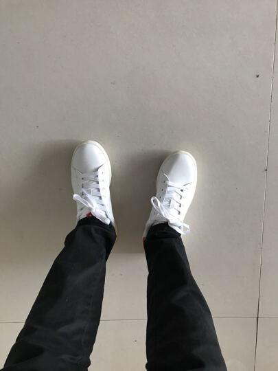 美特斯邦威-潮流品牌板鞋男情侣款韩版潮运动休闲青春潮流舒适小白鞋 白绿组 41 晒单图
