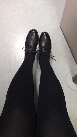 圣大保罗女鞋 英伦风布洛克小皮鞋百搭休闲鞋女粗跟单鞋  黑色 36 晒单图