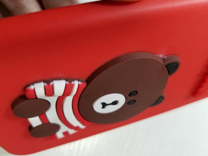 杜能 oppor11手机壳oppor9s套r15玻璃壳r9plus个性情侣r11s卡通潮网红玻璃壳 6P/6SP 5.5英寸 黑色小熊+爱心挂件 晒单图