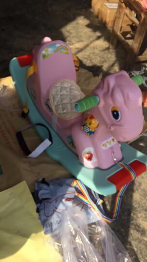 摇摇马木马儿童玩具男孩女孩1-3岁宝宝音乐摇马益智安全带款摇马婴儿小木马一周岁生日礼物益智玩具 (音乐安全带款)粉色摇摇马+音乐手拍鼓 豪华版(送故事机) 晒单图