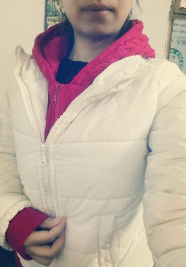 暖美姿羽绒服女2018冬装新品时尚大毛领短款羽绒服女韩版宽松学生bf绣花加厚外套派克服85669 卡其 M90到105斤 晒单图