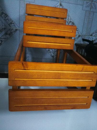 施豪特斯(SHTS) 凳子 实木吧台椅子休闲椅换鞋凳阶梯凳STC-3 蜜糖色 晒单图