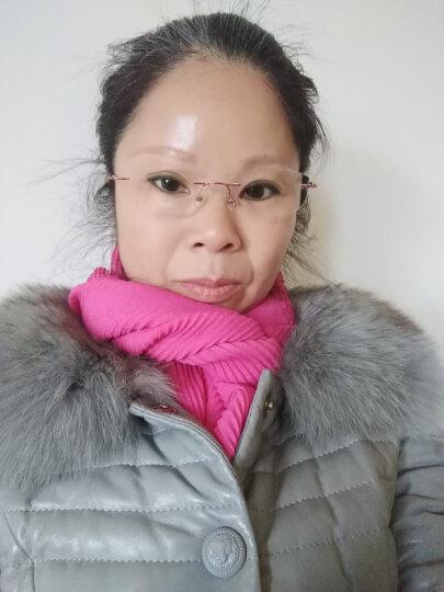 苏泊尚(SUPER SUNG)防蓝光眼镜 超轻无框电脑专用护目平光镜女款防辐射眼镜 镜架+1.67镜片 (颜色和度数备注) 晒单图