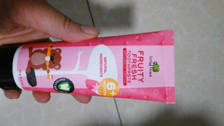 英国小树苗 婴幼儿童木糖醇草莓味牙膏70g 宝宝无氟可吞咽 适合6月以上 晒单图