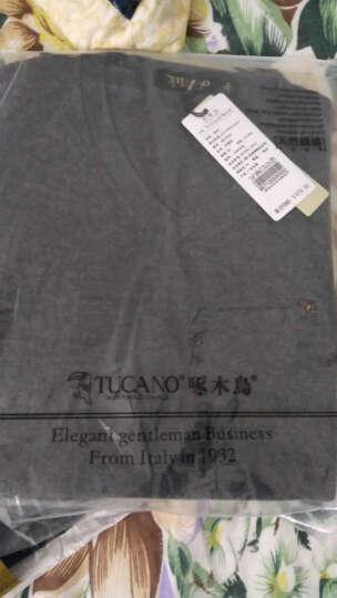 啄木鸟(TUCANO)新款羊毛衫男士V领针织衫时尚修身纯色毛衣男 上青 170/48 晒单图