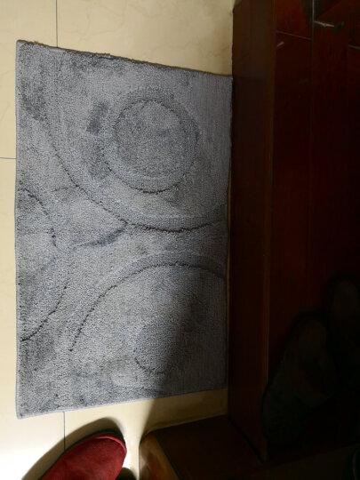 屋尔美 素色地垫 吸水防滑浴室门垫脚垫 腈纶-紫色藤蔓 50*80cm 晒单图