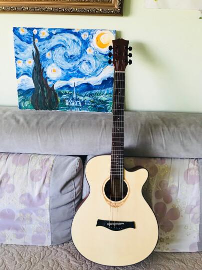 enya 恩雅单板民谣吉他40寸41寸吉它木吉他jita 初学者新手入门乐器 HPL KOA相思木全单EA-X1 41寸 晒单图