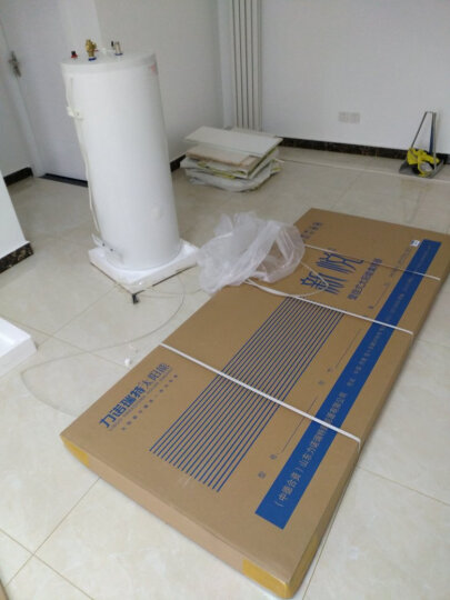 力诺瑞特 100升高层阳台壁挂太阳能热水器家用光电两用 真空管集热器 一级能效承压水箱 送货上门安装 真空管集热器 晒单图