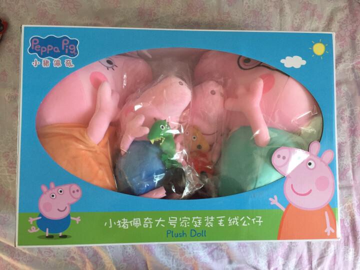 小猪佩奇(Peppa pig)毛绒玩具抱枕公仔儿童礼物女孩布娃娃玩偶系列 大号套装30cm+46cm 晒单图