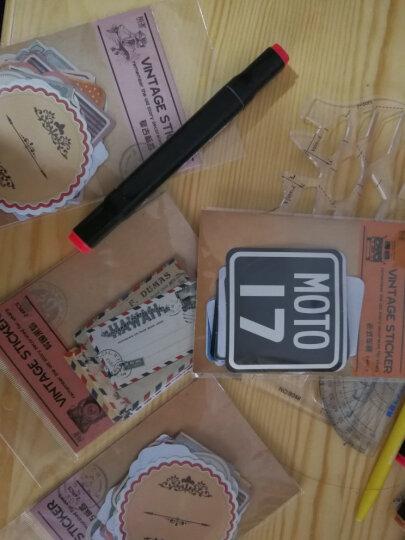 陌墨原创 复古大贴纸包 手帐DIY贴纸复古 8款可选 24张入儿童节礼物学生开学礼物 复古标签 晒单图