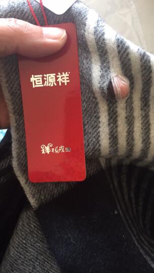 恒源祥丝光羊毛围巾女情侣款百搭条纹披肩围巾两用 男士围巾 YM2012 晒单图