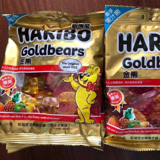 德国进口 哈瑞宝(HARIBO)金熊橡皮糖(混合水果味) 200g 晒单图