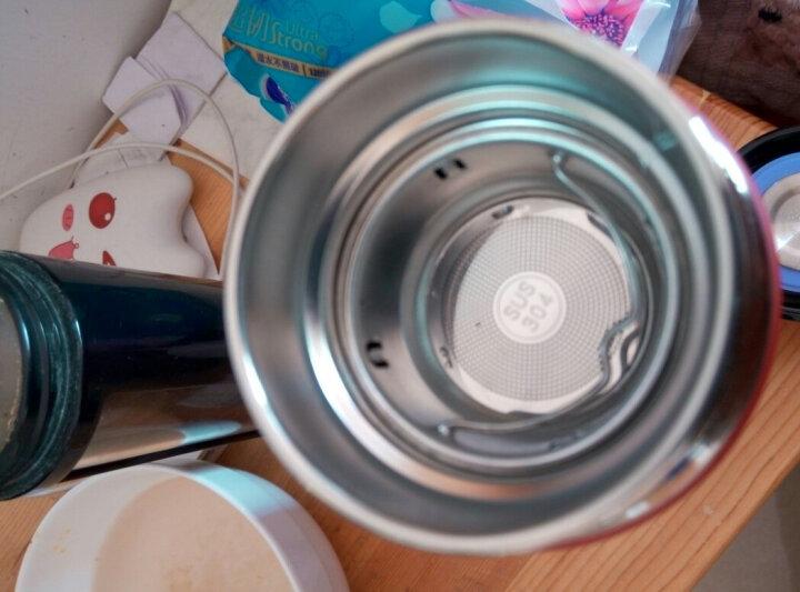 然也(RAE)450ml双层真空304不锈钢保温杯壶男女大容量带茶隔过滤泡茶杯便携商务办公水杯子WCO红色R3038 晒单图