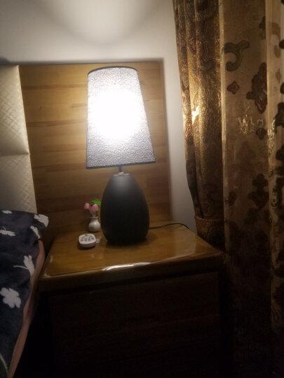 玛兰名灯(MERLONG) 卧室床头台灯现代简约温馨客厅创意卧室台灯遥控LED可调光 家用台灯书桌灯 黑色网纱款 【遥控开关】9瓦无极调光调色LED 晒单图