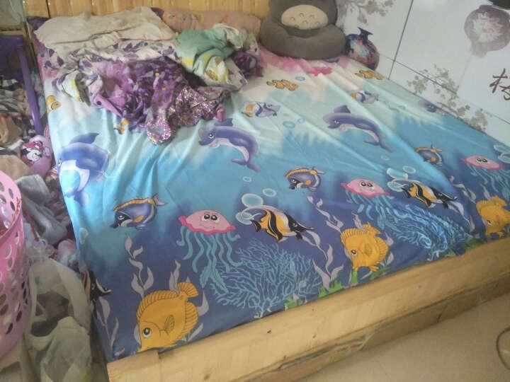 床笠单件1.8m床套防尘罩床垫套席梦思保护套 1.5米薄棕垫床罩1.2m 叮当猫 180x200cm厚垫床笠 晒单图