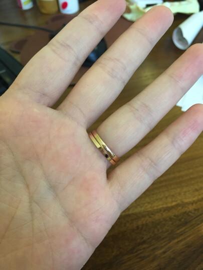 周大福 小心意系列 优雅闪耀 18K金镶钻石戒指/钻戒 U131379 10号 3800元 晒单图