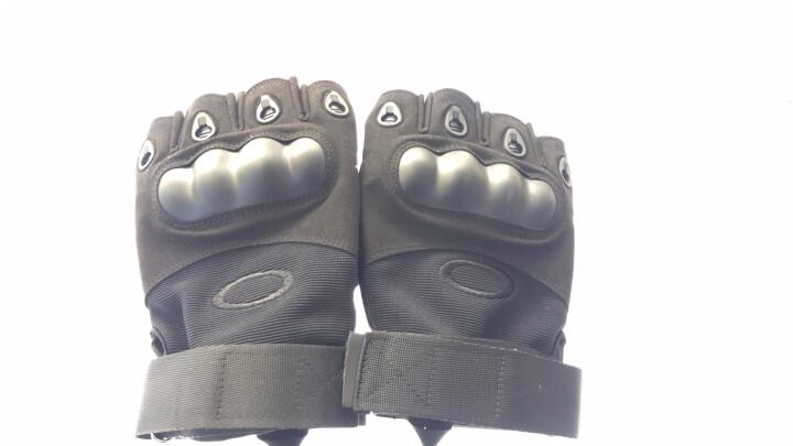 图跃(TUYUE)半指手套运动军迷特种兵户外休闲健身登山防滑防割骑行战术格斗搏击散打手套 升级黑色半指 晒单图