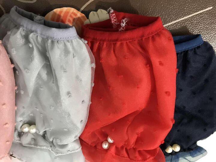 UYUK双层蕾丝袖套女短款防尘护袖日常办公套袖防污精品手袖套子不透款 米色 珍珠 晒单图