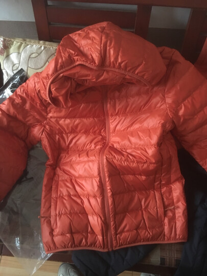 以纯线上品牌A21 秋冬新款轻暖羽绒服男可脱卸帽羽绒外套4631153011VP 橙红 170/84A(M) 晒单图