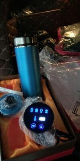 车载加热杯智能电热水杯汽车用电热烧水壶保温杯 香槟金 晒单图