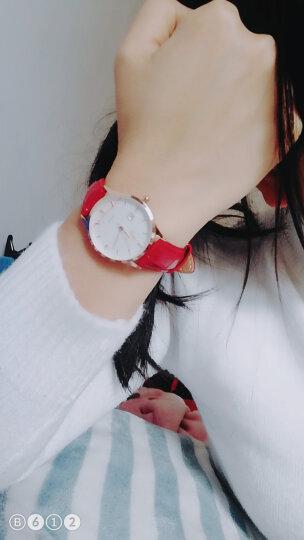 依伦(EREN)手表女士超薄简约时尚休闲石英韩版防水皮带学生新款情侣腕表网红同款 E9309L魅力激情红 晒单图