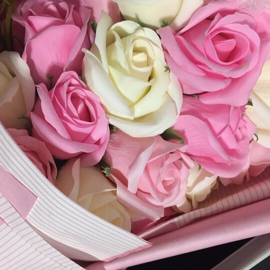 MIEZ保鲜花速递玫瑰花束同城情人节圣诞礼物生日礼物送女友 21朵小熊粉色 公主的祝福 晒单图