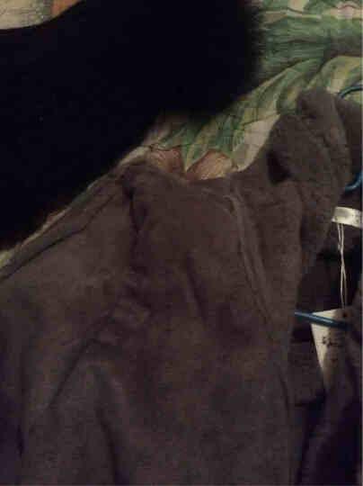 恋思妮  棉衣女中长款2017冬季新款棉服女韩版修身棉袄外套女新品 浅灰色 M 晒单图