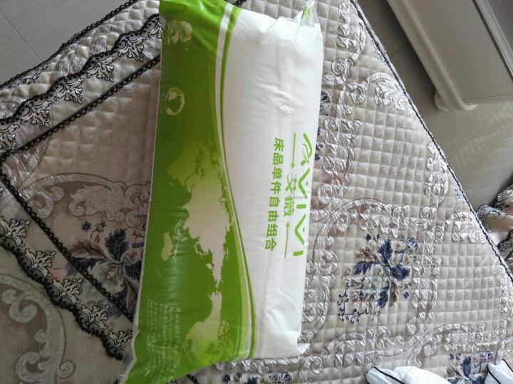 艾薇 枕芯全棉面料羽丝绒枕酒店枕头 舒芯可水洗高弹枕一个装格调45 70CM 晒单图