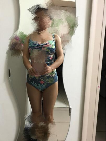 弈姿EZI 泳衣 女 保守修身显瘦温泉泳衣 连体三角遮肚显瘦游泳衣 Ezi1270 热带花 M 晒单图