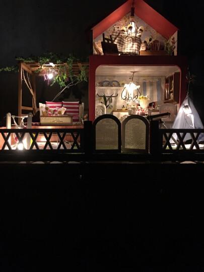 生日礼物 DIY小屋创意礼品手工制作拼装别墅房子 浪漫新奇情人节礼物送老婆送女友情侣闺蜜 仲夏梦之夜+工具胶水+音乐 晒单图