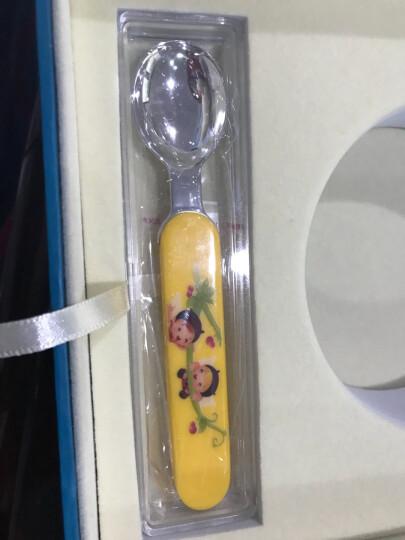 富沃达 足银999宝宝餐具套装儿童送礼 宝宝银碗银勺子整套生日节日周岁礼物银制礼品 纯银碗勺银礼满月 (粉)开心小伙伴套装配证书 晒单图