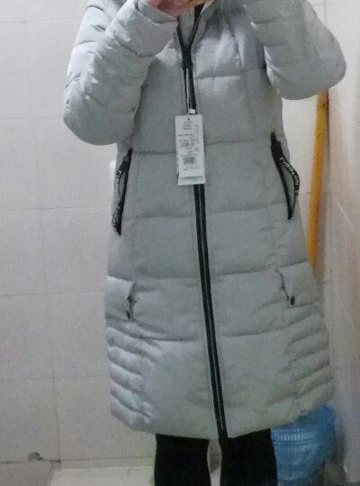 LIGGFOP2019冬季外套女装反季棉衣女中长款 韩版加厚保暖修身时尚棉服长大衣棉袄 军绿 XL 晒单图