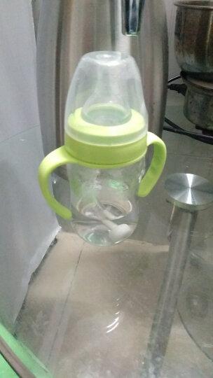爱得利(IVORY) 奶瓶宽口径PP婴儿奶瓶耐摔带吸管手柄新生儿宝宝防摔塑料喝水奶瓶 白色240ML十字孔【2个月以上】 晒单图