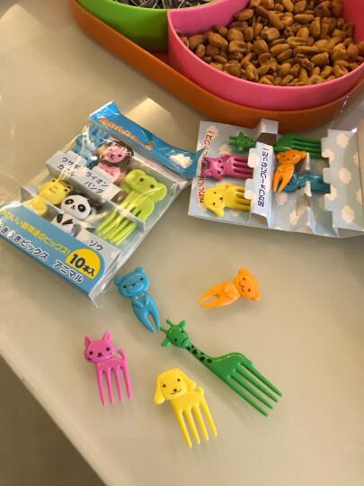 悠悠趣生活 儿童水果叉可爱迷你便当饭盒签创意小动物卡通造型装饰签蛋糕叉烘焙工具 彩色叉子 晒单图