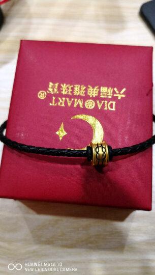 六福典雅珠宝 3D硬足金吊坠 黄金手链 DIY守护智慧力量转运珠手链 送礼百搭男女款 智慧 晒单图