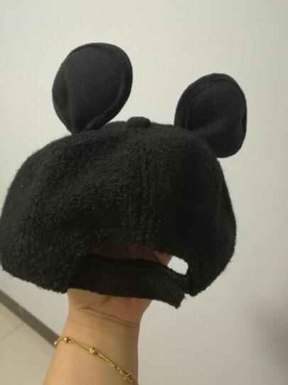 诺芝萌 秋冬儿童帽子 男女孩大耳朵呢绒棒球帽 保暖鸭舌帽子 NM227 姜黄色 可调节 晒单图