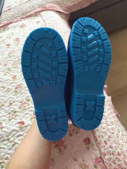 迪士尼(Disney)米奇儿童雨鞋男女童雨靴小孩宝宝卡通防滑水鞋送鞋垫 MP15493米妮水粉 32码/内长20.8cm 晒单图