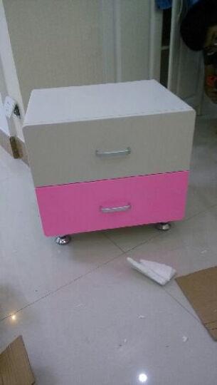 优漫佳 粉色配套床头柜 简约现代 板式家具 床边柜 不单卖 晒单图