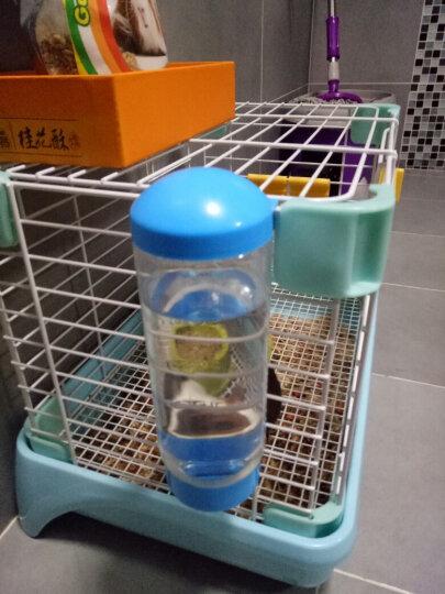 洁西弹簧双滚珠防呛宠物水壶豚鼠龙猫兔子水壶兔子饮水器 挂式水壶400毫升 晒单图