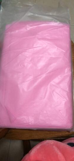 宝利鸿 无纺布手提袋 衣服收纳袋 旅行整理袋 鞋子收纳袋打包袋  10只价 粉红色 40*50cm 晒单图