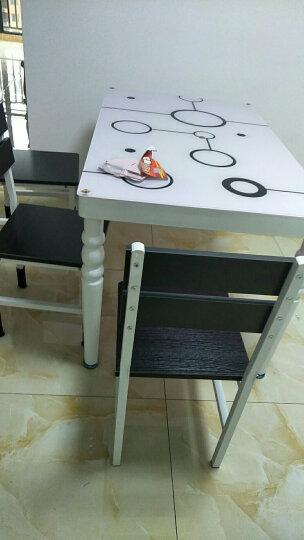 榆品居 钢化玻璃餐桌椅组合饭桌4人桌子现代简约小户型餐桌 白配黄(时尚款) 120*70*75一桌4椅 晒单图