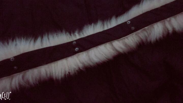 贵仕公羊 2019新款羽绒服男 韩版修身冬季款男装工装外套澳洲羊毛领中长款加厚白鸭绒男士羽绒服 米白色 L 晒单图