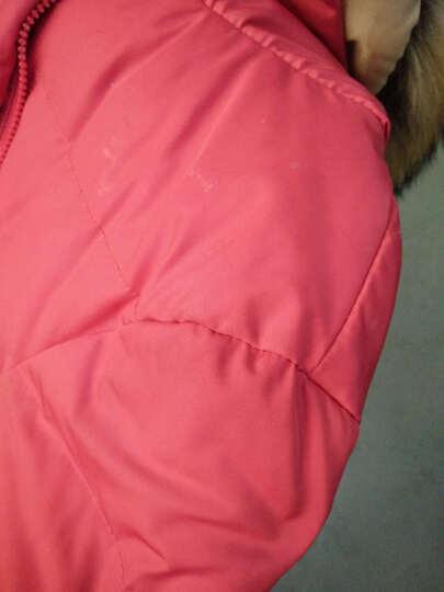 小香风外套女2019冬季欧洲站新款韩版编织菱形格轻薄中长款羽绒服 黑色 L 125-140斤 晒单图
