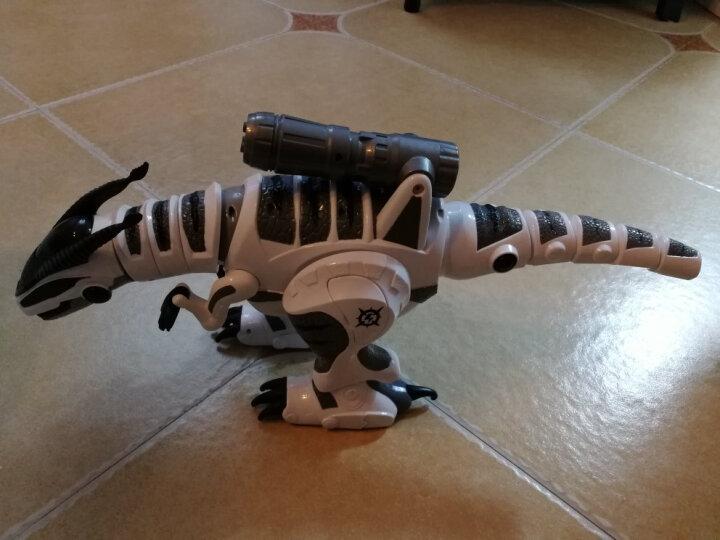 【官方认证授权】遥控恐龙机器人触摸感应机器人侏罗纪世界儿童玩具智能编程电动跳舞霸王龙机械战龙男孩女孩 智能遥控恐龙-黑色 晒单图